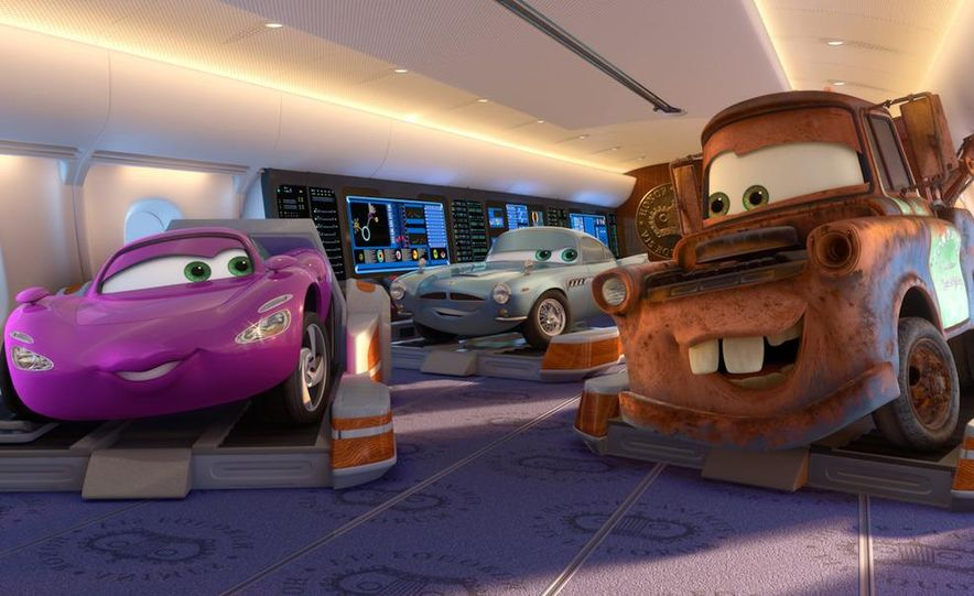 Grem, Acer, Lightning McQueen, Mater, and Finn McMissile in Disney-Pixar's Cars 2 - Slide 6