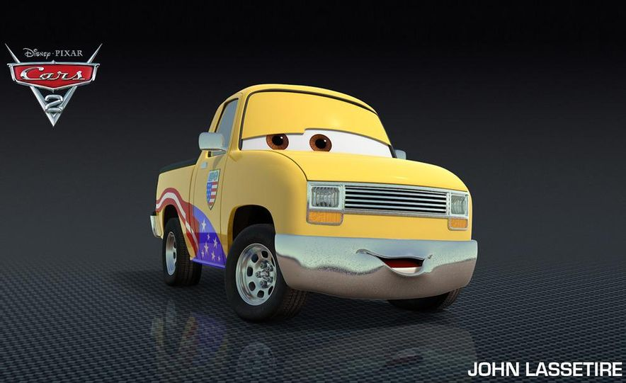 Grem, Acer, Lightning McQueen, Mater, and Finn McMissile in Disney-Pixar's Cars 2 - Slide 19