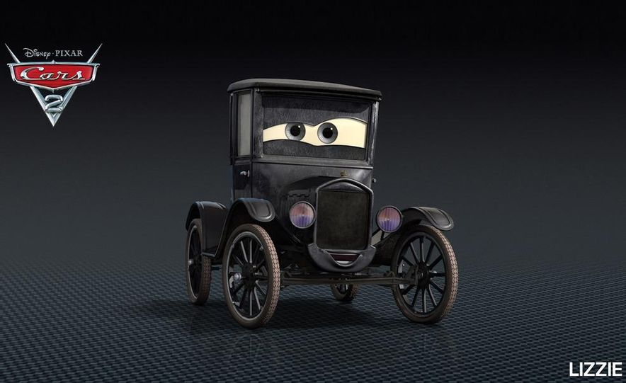 Grem, Acer, Lightning McQueen, Mater, and Finn McMissile in Disney-Pixar's Cars 2 - Slide 21