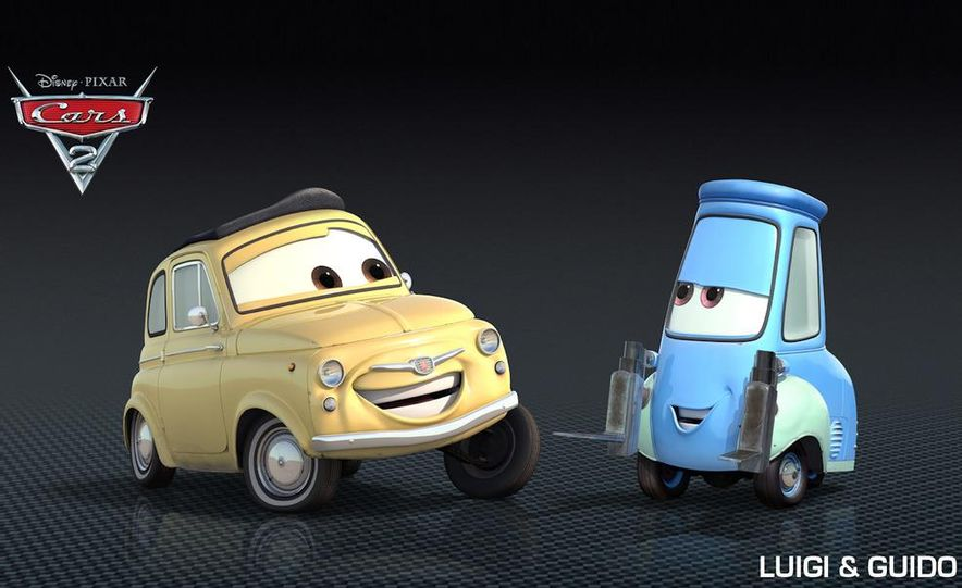 Grem, Acer, Lightning McQueen, Mater, and Finn McMissile in Disney-Pixar's Cars 2 - Slide 22