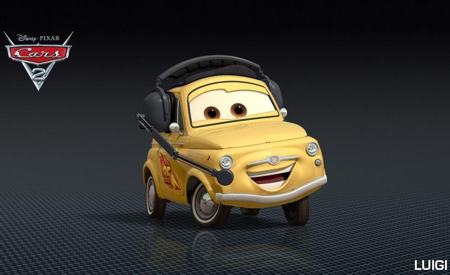 Grem, Acer, Lightning McQueen, Mater, and Finn McMissile in Disney-Pixar's Cars 2 - Slide 23