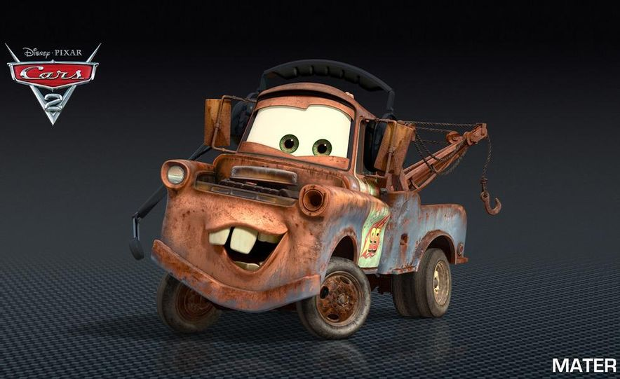 Grem, Acer, Lightning McQueen, Mater, and Finn McMissile in Disney-Pixar's Cars 2 - Slide 26