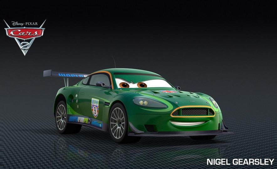 Grem, Acer, Lightning McQueen, Mater, and Finn McMissile in Disney-Pixar's Cars 2 - Slide 28