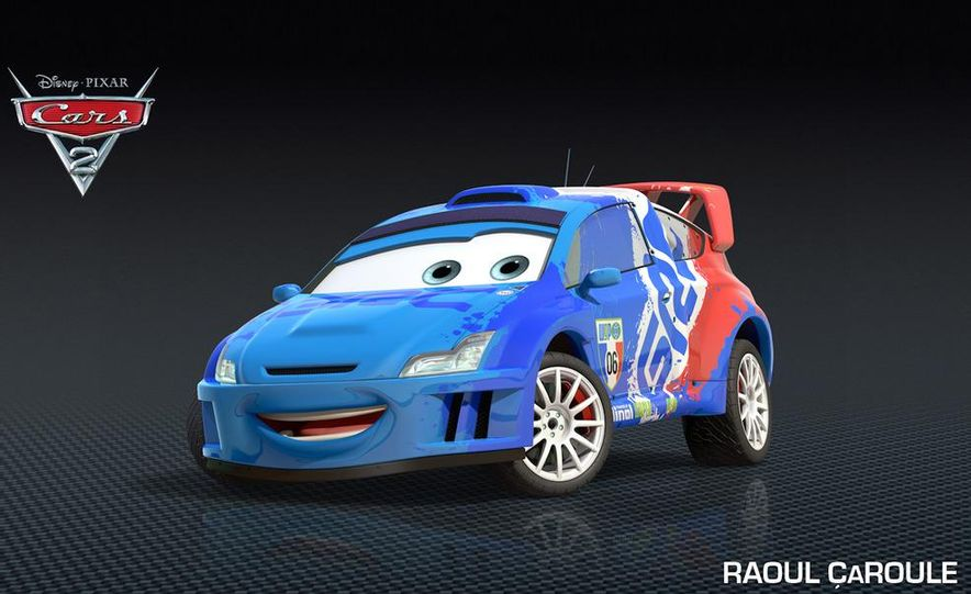 Grem, Acer, Lightning McQueen, Mater, and Finn McMissile in Disney-Pixar's Cars 2 - Slide 30