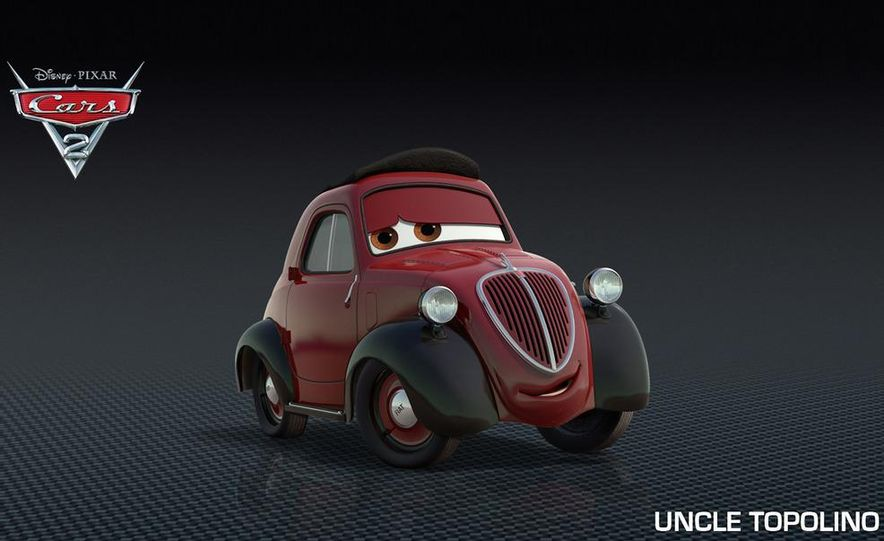 Grem, Acer, Lightning McQueen, Mater, and Finn McMissile in Disney-Pixar's Cars 2 - Slide 35
