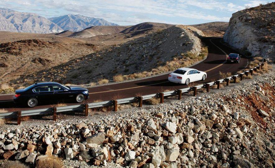2011 Jaguar XJL Supercharged, 2011 Audi A8L, and 2011 BMW 750Li - Slide 2