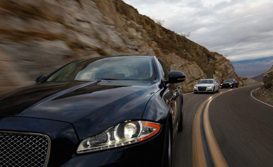 2011 Jaguar XJL Supercharged, 2011 Audi A8L, and 2011 BMW 750Li - Slide 1