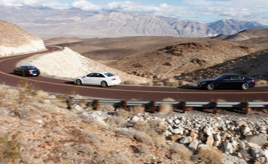 2011 Jaguar XJL Supercharged, 2011 Audi A8L, and 2011 BMW 750Li - Slide 3