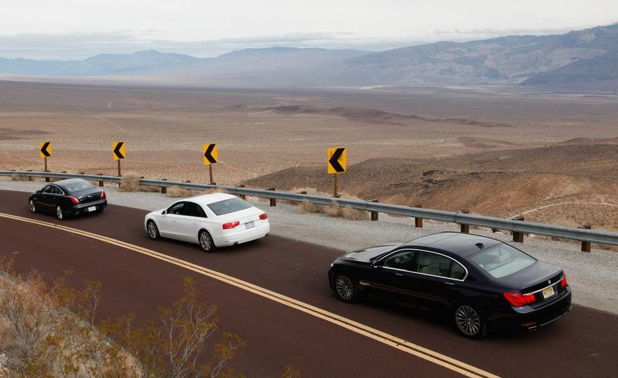 2011 Jaguar XJL Supercharged, 2011 Audi A8L, and 2011 BMW 750Li - Slide 4