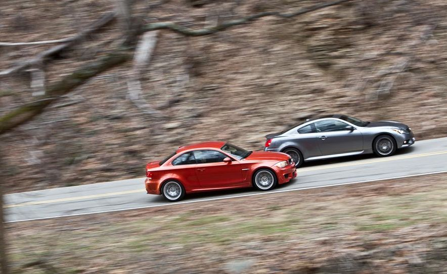 2012 Audi TT RS (Euro-spec), 2011 BMW 1-series M coupe, and 2011 Infiniti IPL G coupe - Slide 13