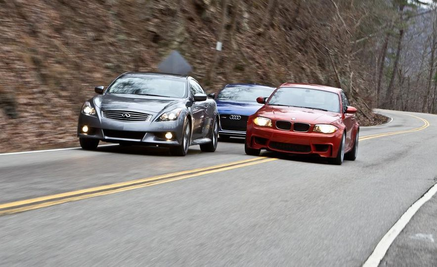 2012 Audi TT RS (Euro-spec), 2011 BMW 1-series M coupe, and 2011 Infiniti IPL G coupe - Slide 5