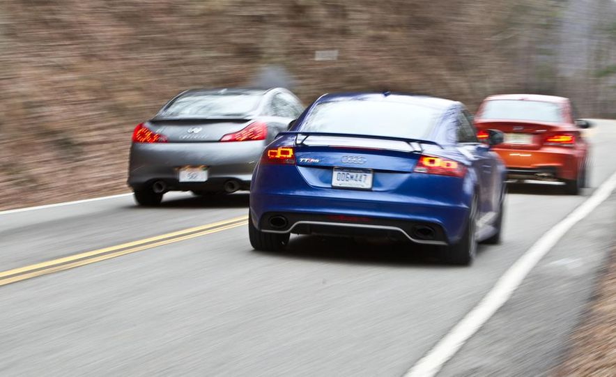 2012 Audi TT RS (Euro-spec), 2011 BMW 1-series M coupe, and 2011 Infiniti IPL G coupe - Slide 8