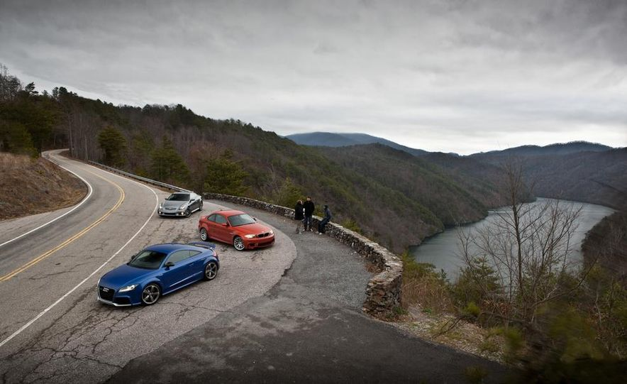 2012 Audi TT RS (Euro-spec), 2011 BMW 1-series M coupe, and 2011 Infiniti IPL G coupe - Slide 15
