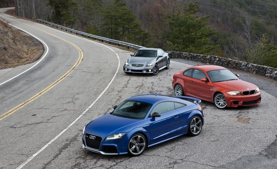 2012 Audi TT RS (Euro-spec), 2011 BMW 1-series M coupe, and 2011 Infiniti IPL G coupe - Slide 16