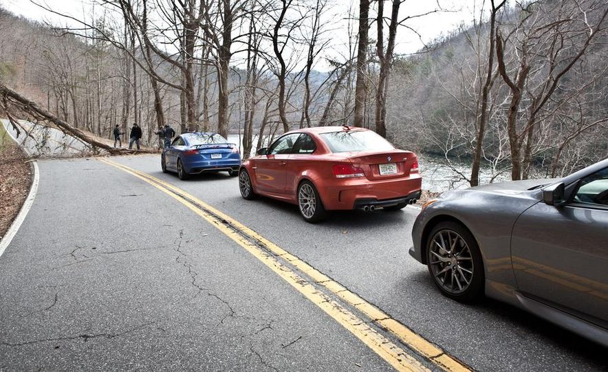2012 Audi TT RS (Euro-spec), 2011 BMW 1-series M coupe, and 2011 Infiniti IPL G coupe - Slide 17