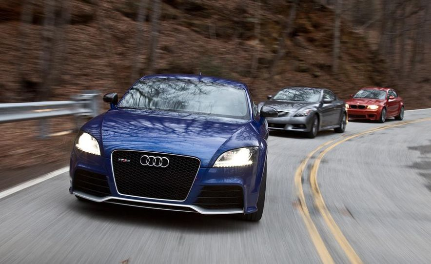 2012 Audi TT RS (Euro-spec), 2011 BMW 1-series M coupe, and 2011 Infiniti IPL G coupe - Slide 2