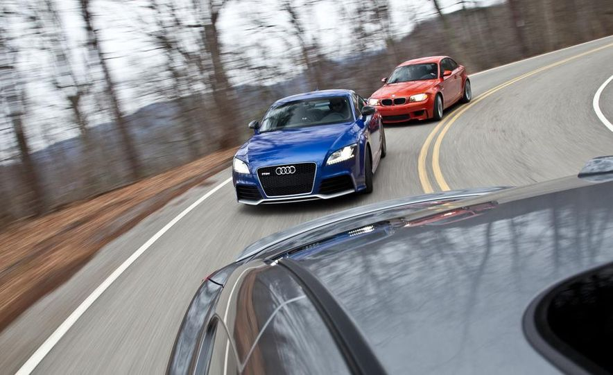2012 Audi TT RS (Euro-spec), 2011 BMW 1-series M coupe, and 2011 Infiniti IPL G coupe - Slide 11