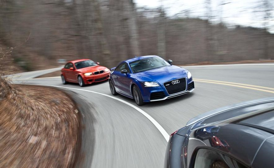 2012 Audi TT RS (Euro-spec), 2011 BMW 1-series M coupe, and 2011 Infiniti IPL G coupe - Slide 12