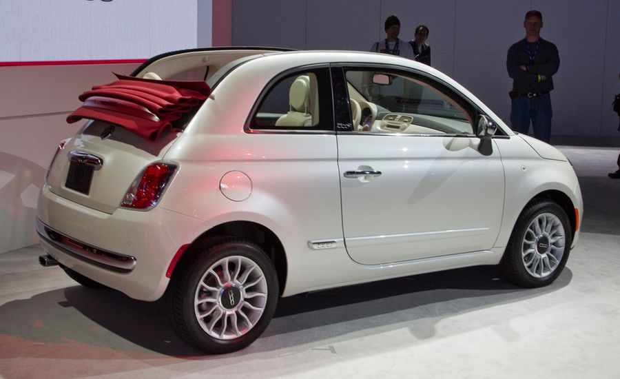 2012 fiat 500c convertible photos and info news car and driver. Black Bedroom Furniture Sets. Home Design Ideas