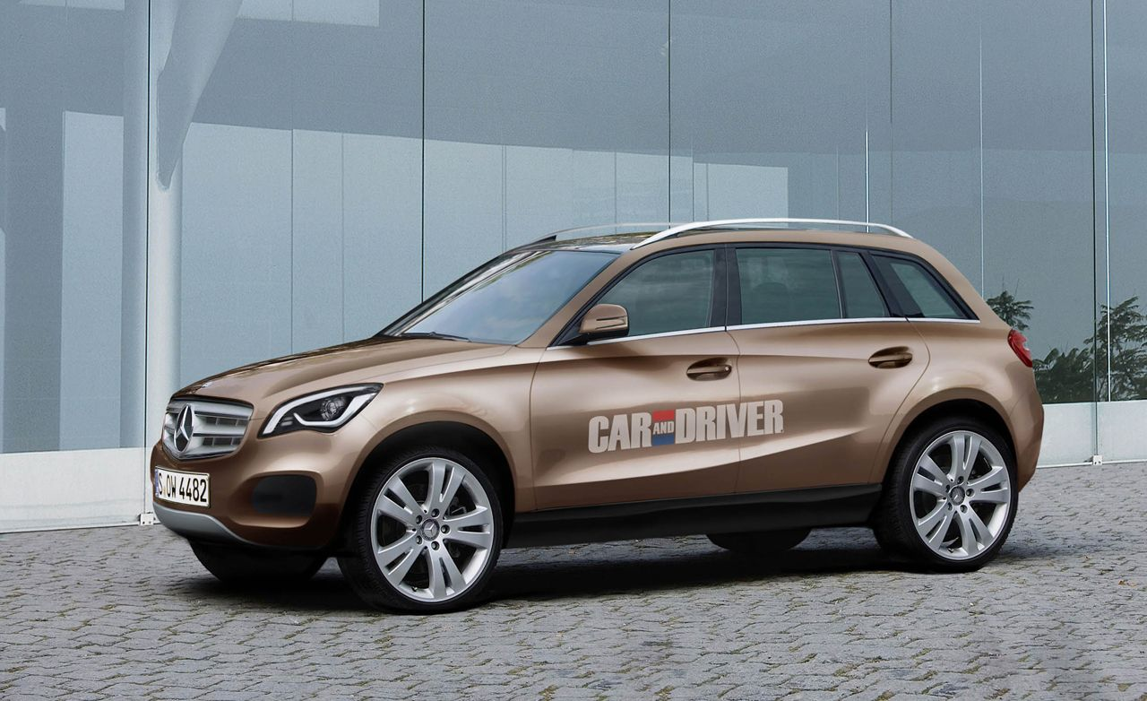 2014 mercedes benz glc small crossover rendered news for Smallest mercedes benz