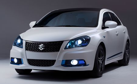Suzuki Kizashi Apex and EcoCharge Hybrid Concepts