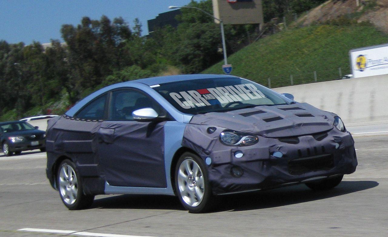2012 Hyundai Elantra Coupe Spy Photos