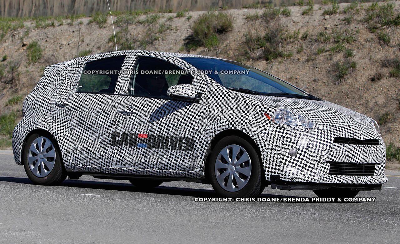 2012 Toyota Prius C Spy Photos