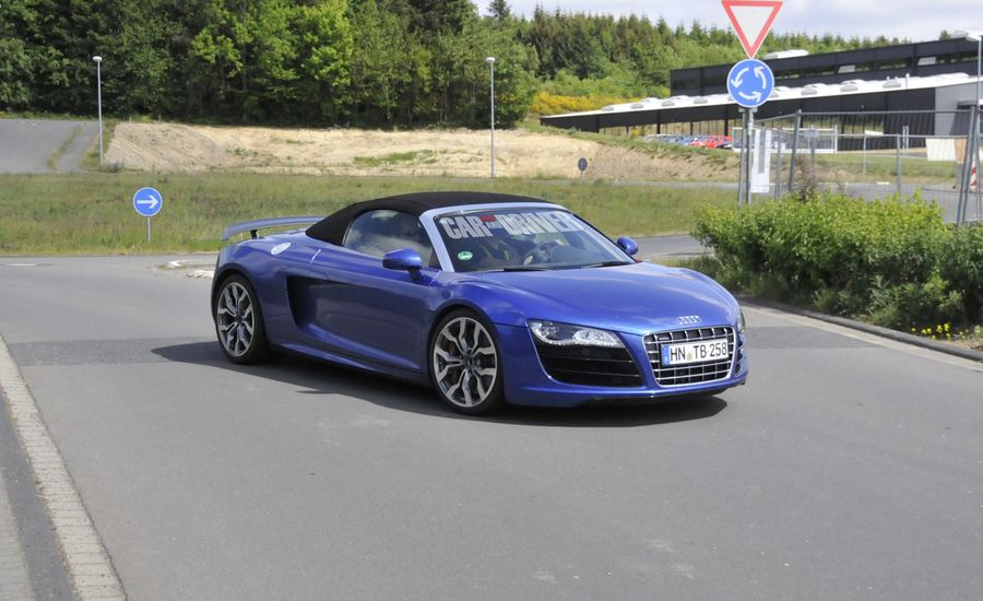 2012 Audi R8 GT Spyder Spy Photos