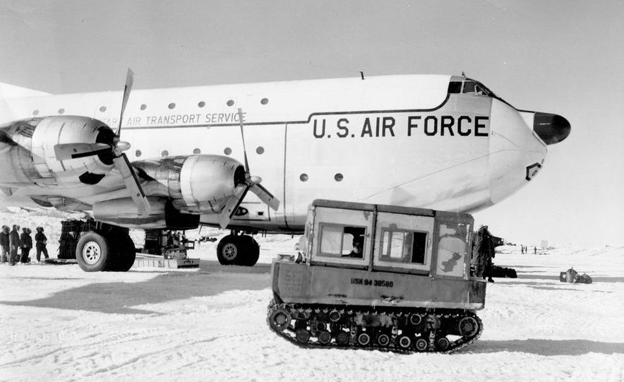 A large Delta truck, used to transport personnel across the sea ice. (Dominick Dirksen, National Science Foundation) - Slide 19