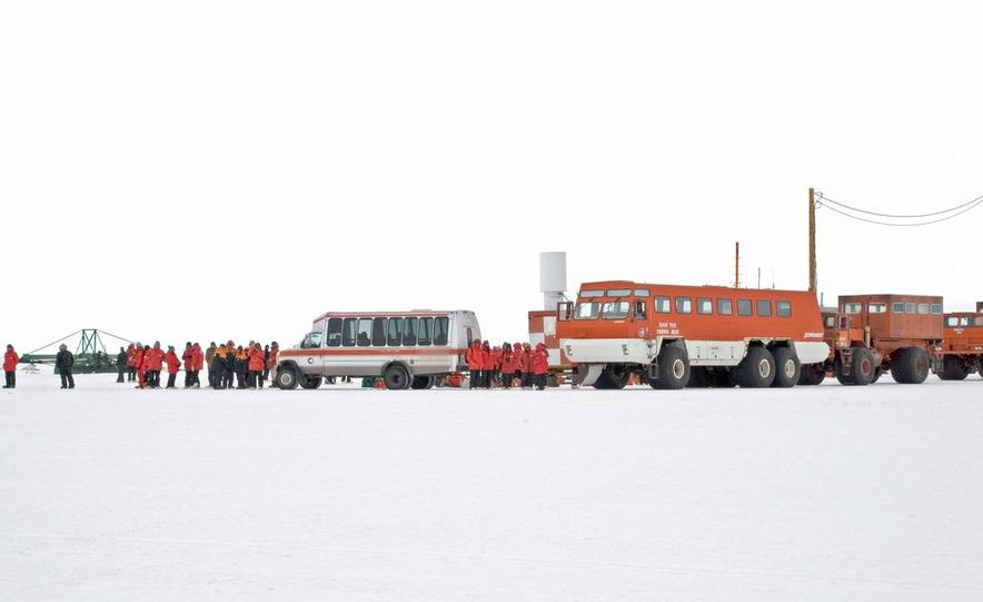 A large Delta truck, used to transport personnel across the sea ice. (Dominick Dirksen, National Science Foundation) - Slide 8