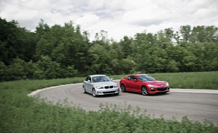BMW 128i vs. Mazda RX-8 R3