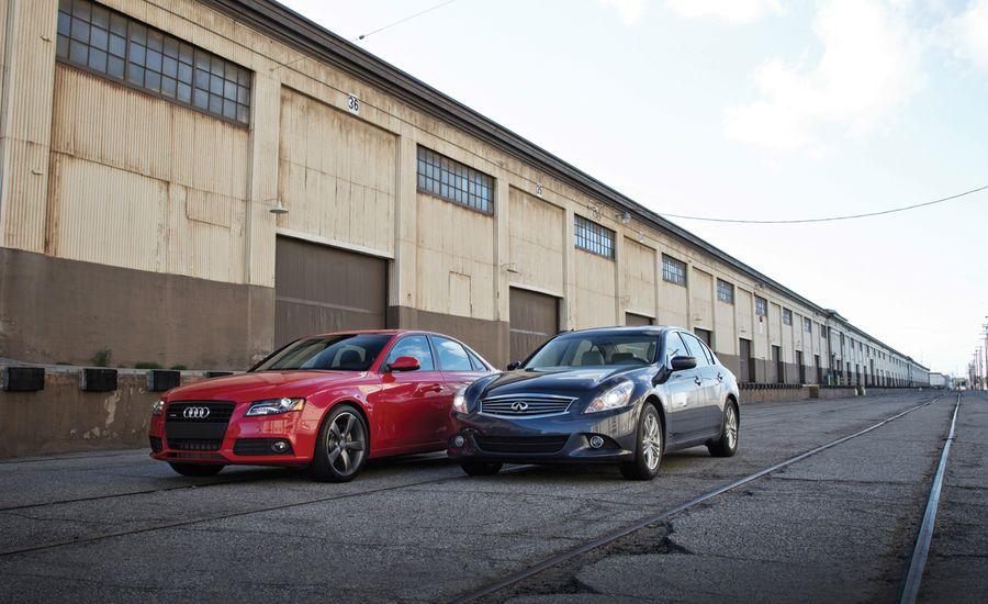 Audi A4 2.0T vs. Infiniti G25