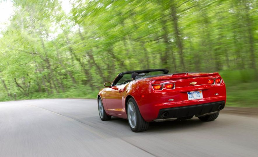 2011 Ford Mustang convertible and 2011 Chevrolet Camaro convertible - Slide 2