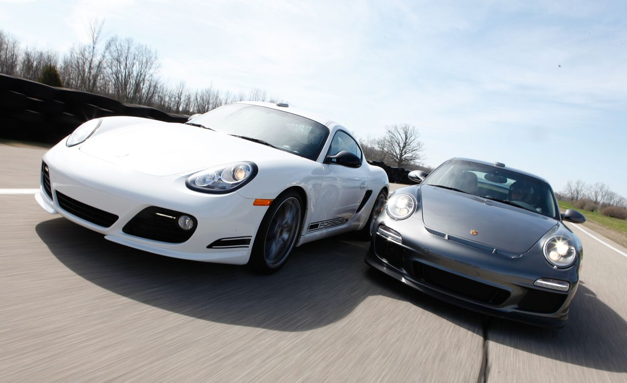 The Mid- vs. Rear-Engine Debate: Porsche Cayman R vs. 911 GT3