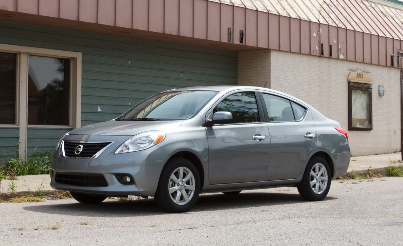 2012 nissan versa sl sedan review car and driver. Black Bedroom Furniture Sets. Home Design Ideas