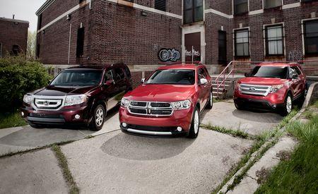 2011 Dodge Durango Crew AWD vs. 2011 Ford Explorer XLT 4WD, 2011 Honda Pilot Touring 4WD