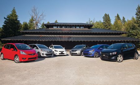 2012 Chevrolet Sonic LTZ Turbo vs. 2011 Honda Fit Sport, 2012 Hyundai Accent SE, 2012 Kia Rio5 SX, 2012 Nissan Versa SL, 2012 Toyota Yaris SE