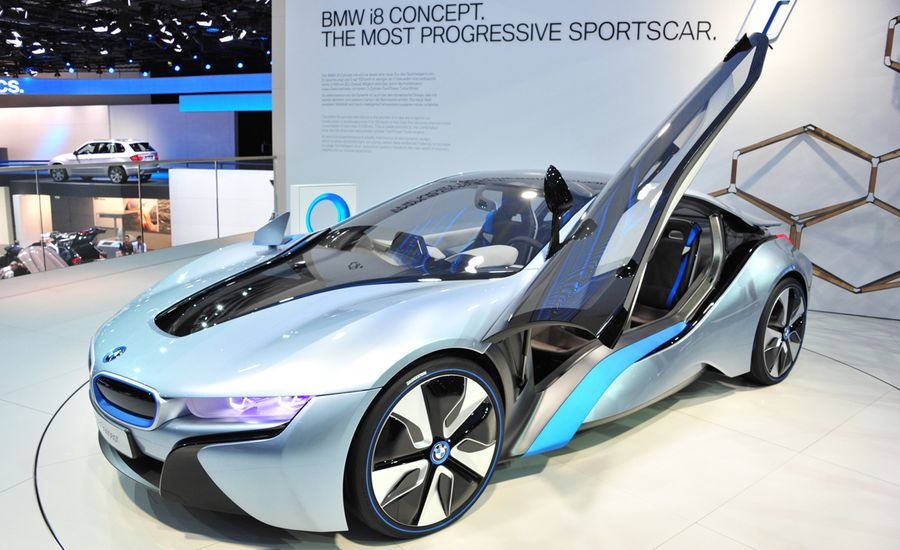 bmw i8 concept official photos and info news car and driver. Black Bedroom Furniture Sets. Home Design Ideas