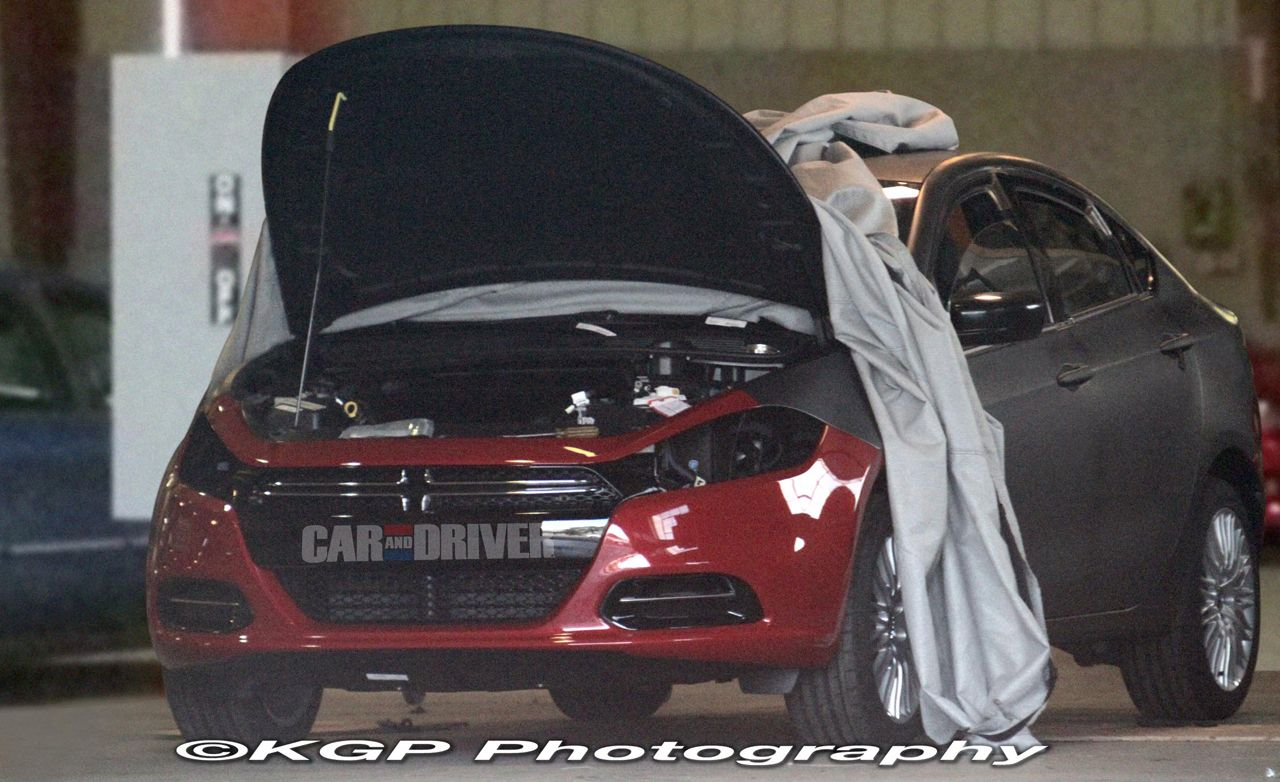 2013 Dodge Small Car Spy Photos Show Undisguised Front End
