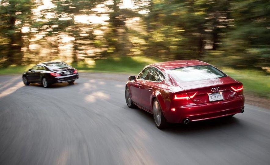 2012 Mercedes-Benz CLS550 and 2012 Audi A7 3.0T Quattro - Slide 13