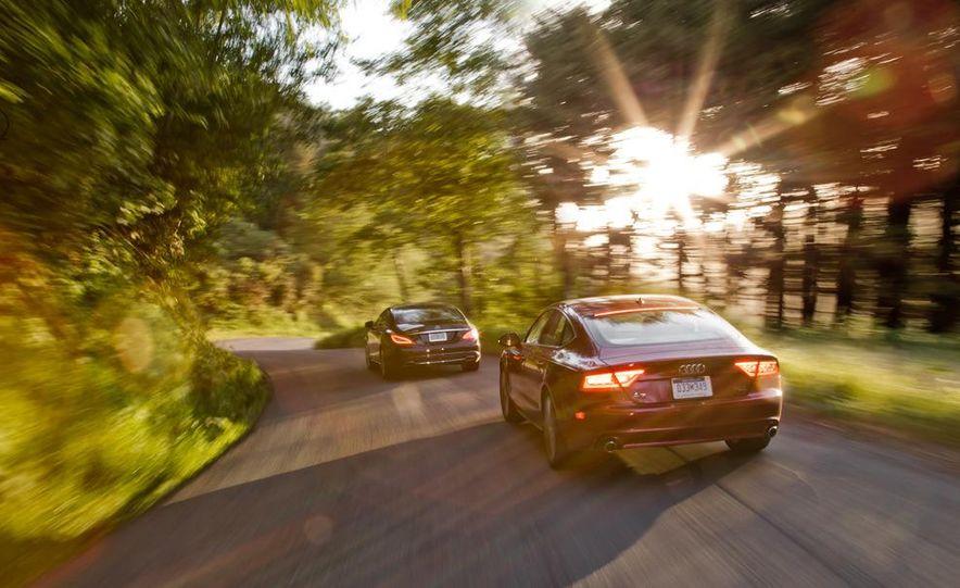 2012 Mercedes-Benz CLS550 and 2012 Audi A7 3.0T Quattro - Slide 14