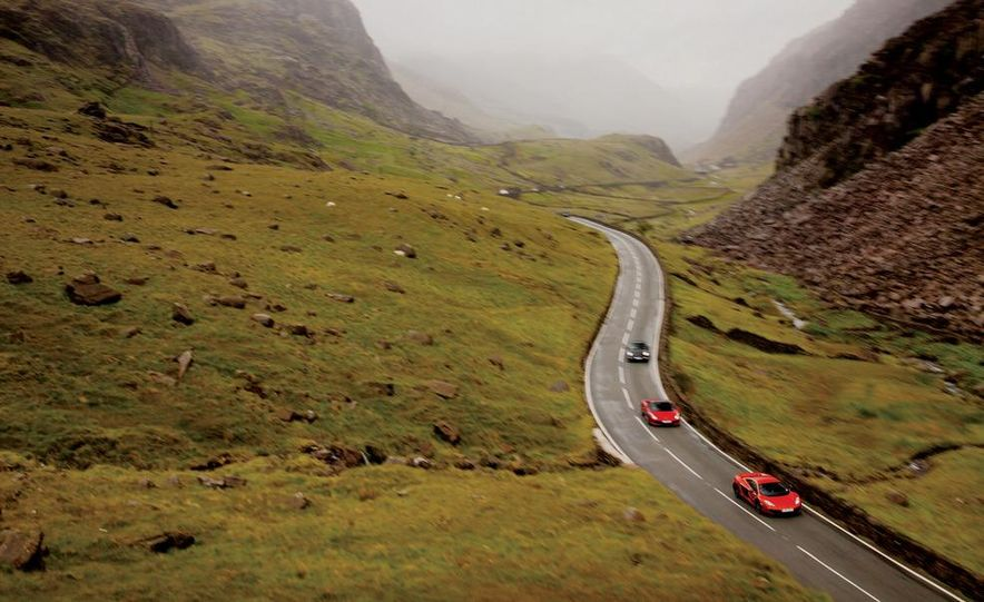 2011 Ferrari 458 Italia, 2012 McLaren MP4-12C, and 2011 Porsche 911 GT2 RS - Slide 8