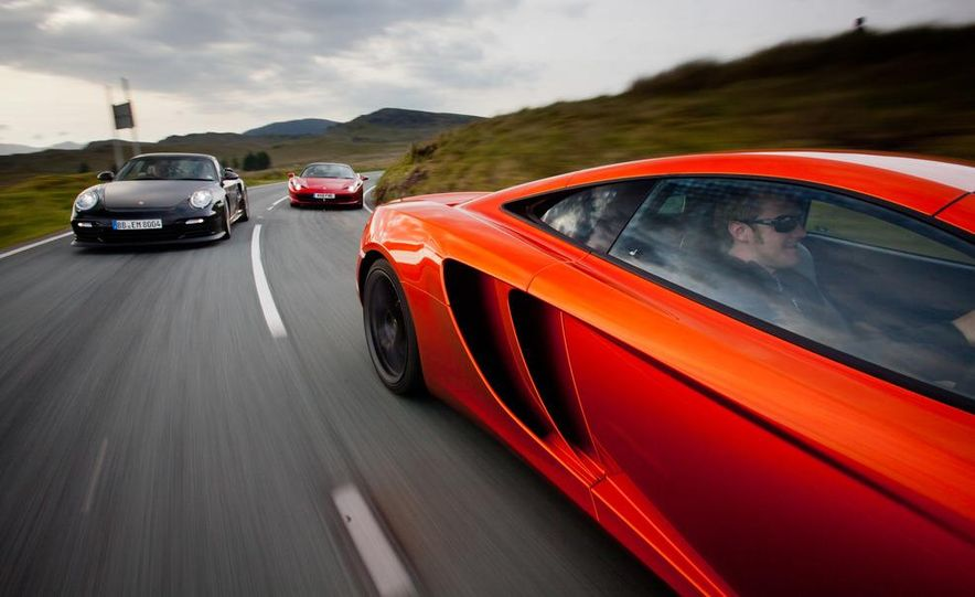 2011 Ferrari 458 Italia, 2012 McLaren MP4-12C, and 2011 Porsche 911 GT2 RS - Slide 12
