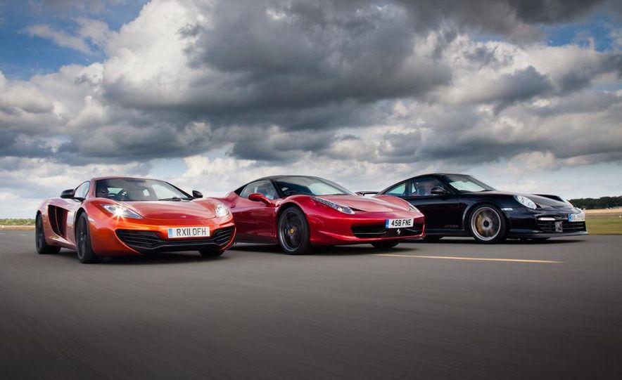 2011 Ferrari 458 Italia, 2012 McLaren MP4-12C, and 2011 Porsche 911 GT2 RS - Slide 9