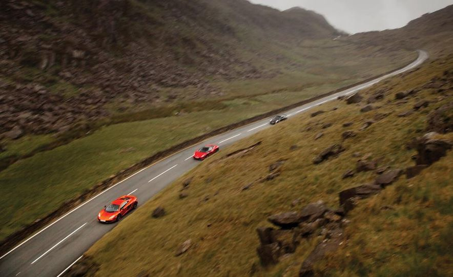 2011 Ferrari 458 Italia, 2012 McLaren MP4-12C, and 2011 Porsche 911 GT2 RS - Slide 11