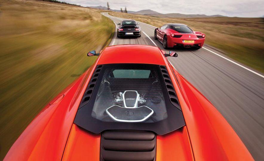 2011 Ferrari 458 Italia, 2012 McLaren MP4-12C, and 2011 Porsche 911 GT2 RS - Slide 10