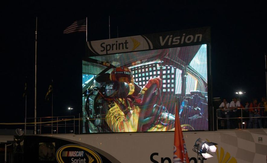 Crew chief Steve Addington in a light moment before the race. He won't be laughing at the end. - Slide 7