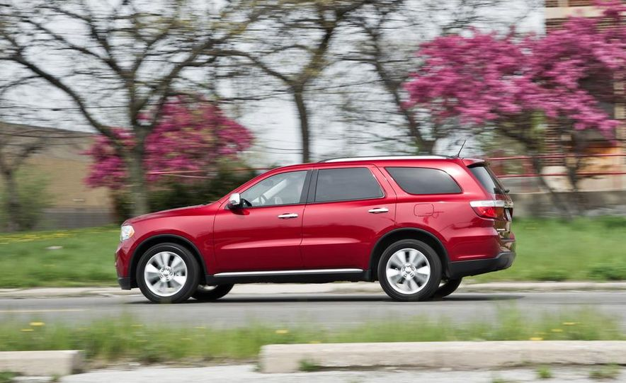 2011 Honda Pilot Touring 4WD, 2011 Dodge Durango Crew AWD, and 2011 Ford Explorer XLT 4WD - Slide 62