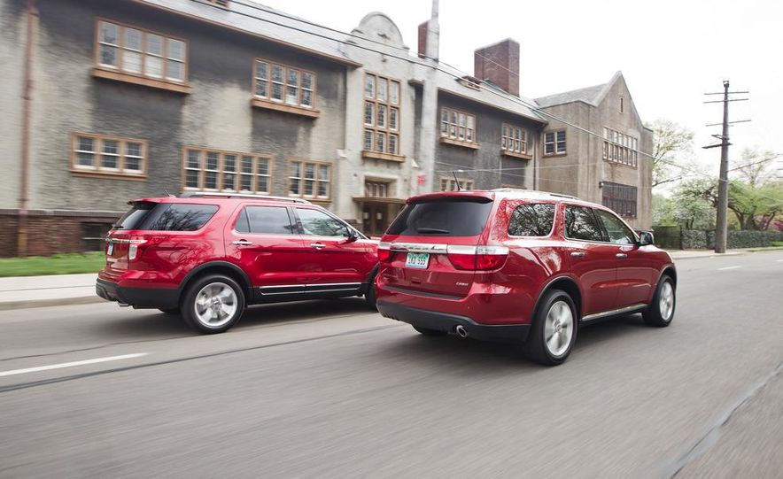 2011 Honda Pilot Touring 4WD, 2011 Dodge Durango Crew AWD, and 2011 Ford Explorer XLT 4WD - Slide 3