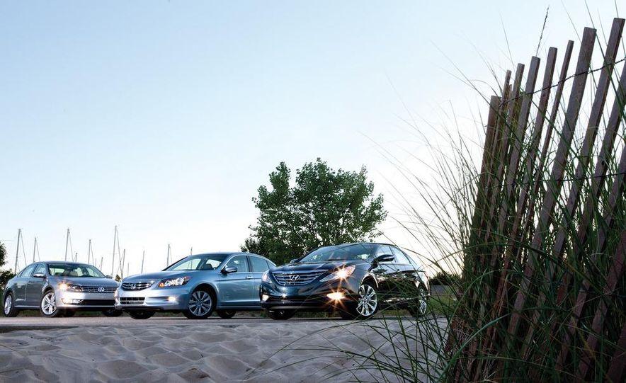 2011 Honda Accord EX-L V6, 2012 Volkswagen Passat 3.6 SEL, and 2012 Hyundai Sonata 2.0T Limited - Slide 2